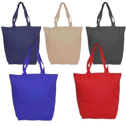 Sturdy Daily Carry All Cotton Canvas Tote Bag