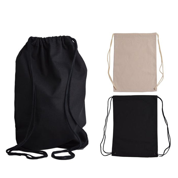 Multi-Purpose Cotton Canvas Drawstring Bag