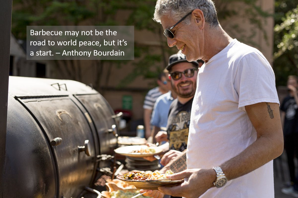 Anthony Bourdain BBQ Quote