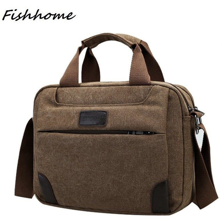 Multifunction Retro Man Canvas Bag Korean Male Fashion Messenger Bag at Bagz Central for only $23.99