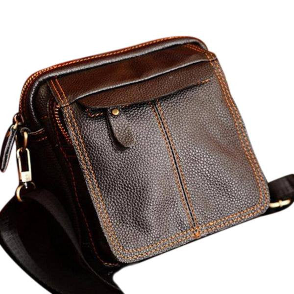 Mwn Leather Wear-Resistant Messenger Bag - Bagz Central