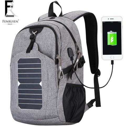 FENRUIEN Limited Production Solar Powered Backpack 25L Capity Cell Phone Charger Backpack at Bagz Central for only $120.99