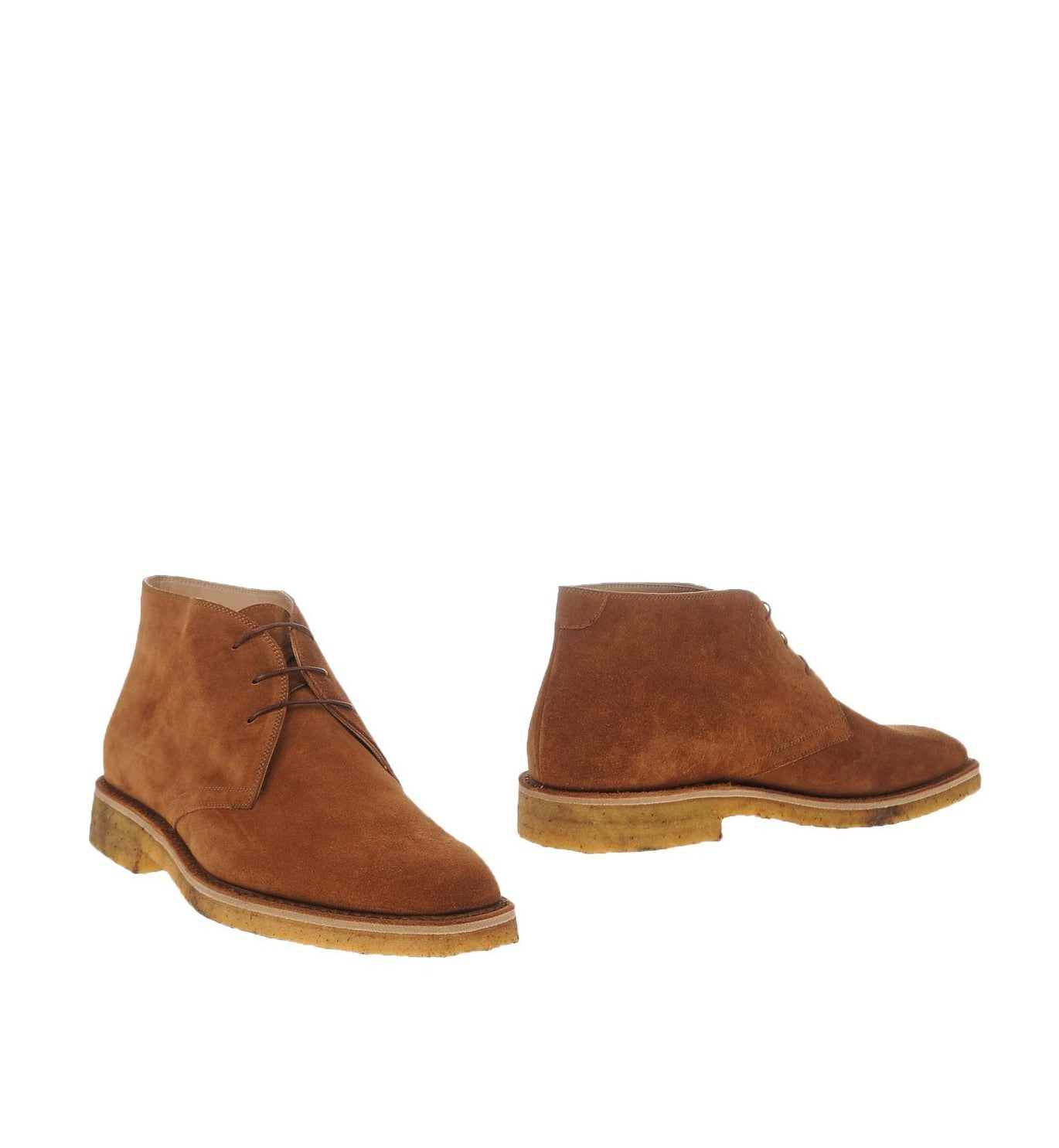 KITON - Brown Suede Slim Silhouette Ankle Boot Contrast Sole - 10