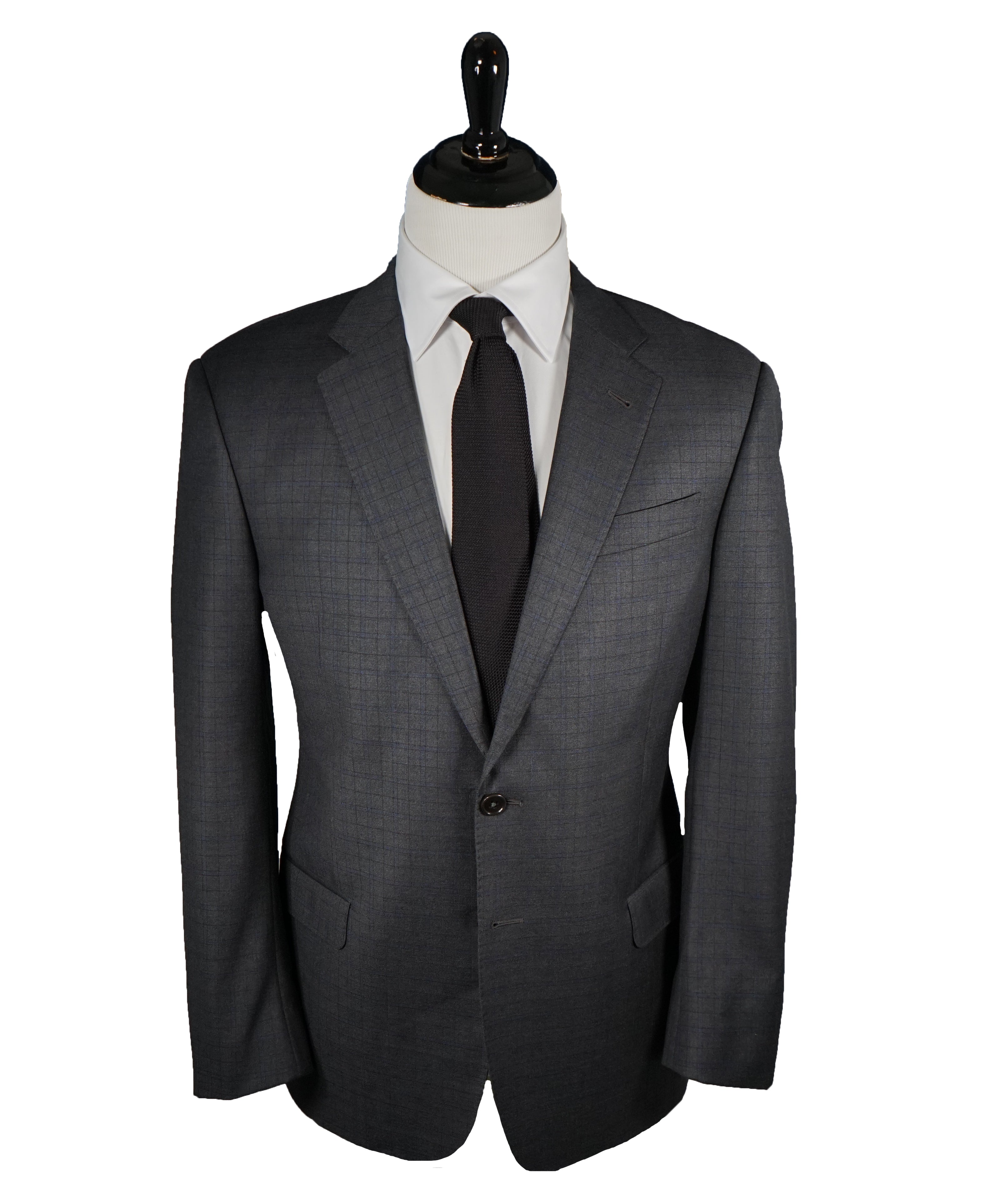 "ARMANI COLLEZIONI - Blue & Gray Bold Plaid Check Suit ""G Line"" - 42R"
