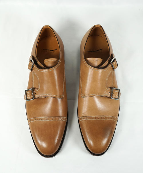 "BALLY - ""SCRIBE"" Goodyear Welt Brown Hand Made Monk Strap Loafers - 11"
