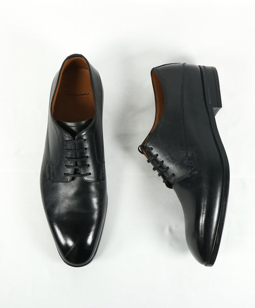 "BALLY - ""Lantel"" Black Oxfords With Durable Rubber Sole - 8.5"