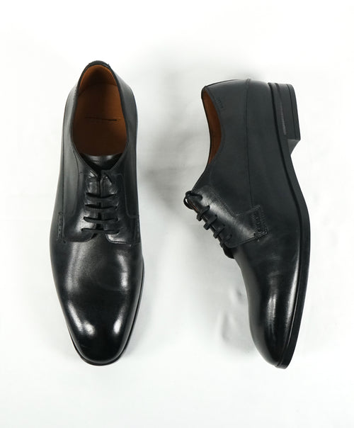 "BALLY - ""Lantel"" Black Oxfords With Durable Rubber Sole - 9"