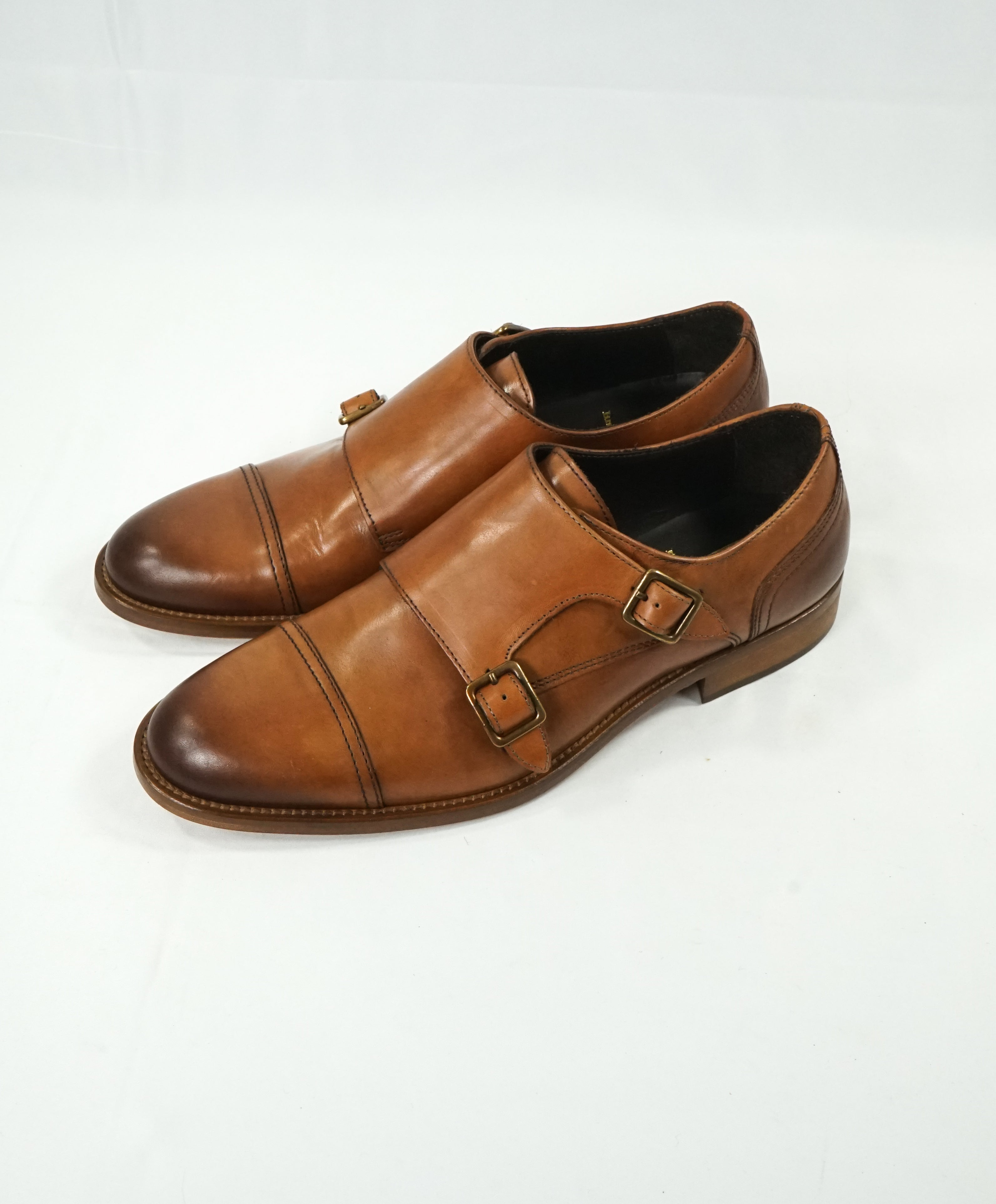 "BRUNO MAGLI - ""SASSO"" Brown Double Monk Strap Loafers - 8.5"