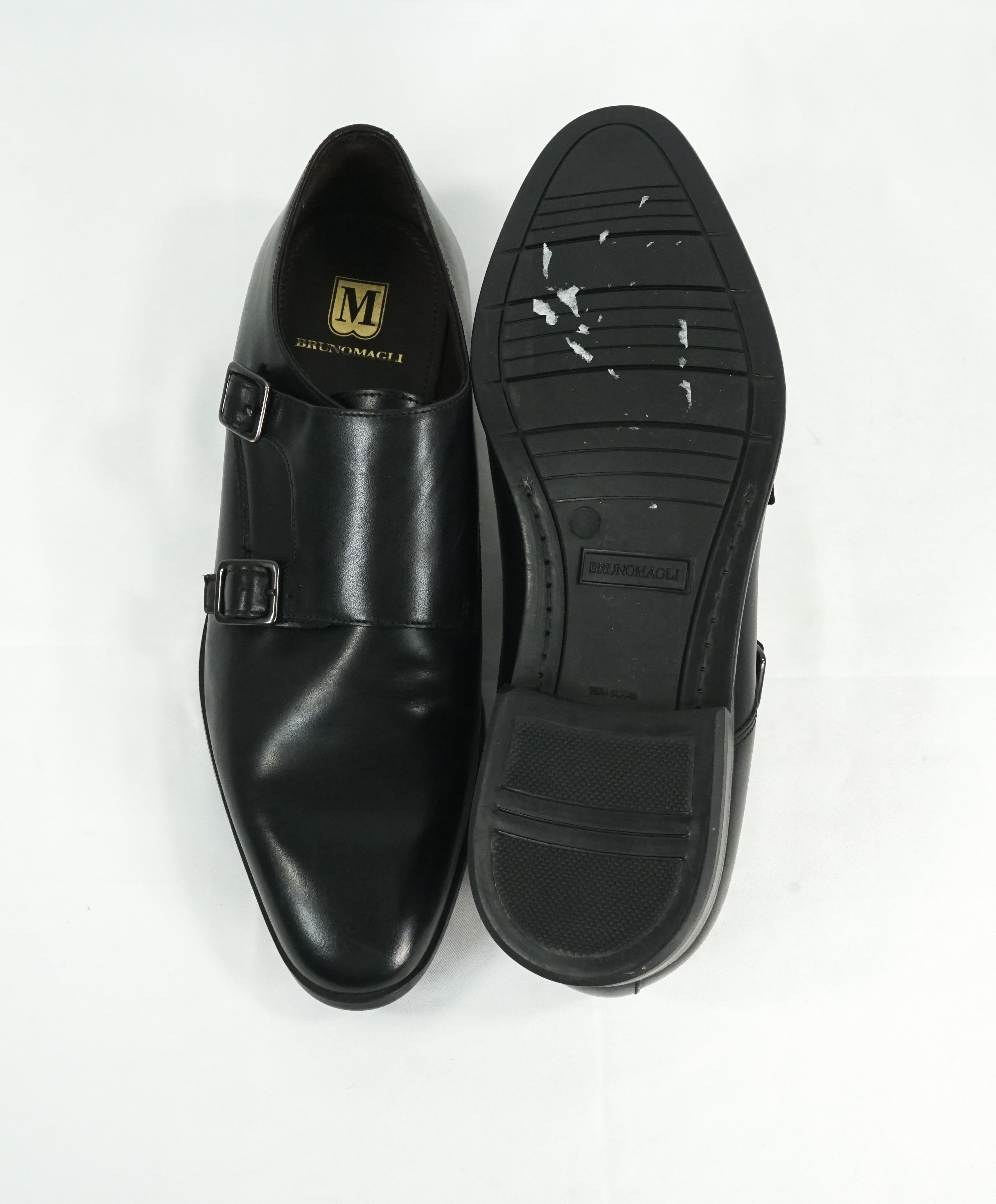 BRUNO MAGLI - Black Sleek Double Monk Strap Loafers - 9