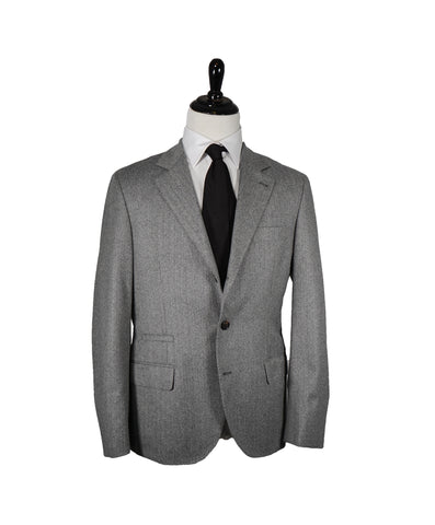CANALI - Gray Charcoal Notch Lapel Iconic Suit -  44R