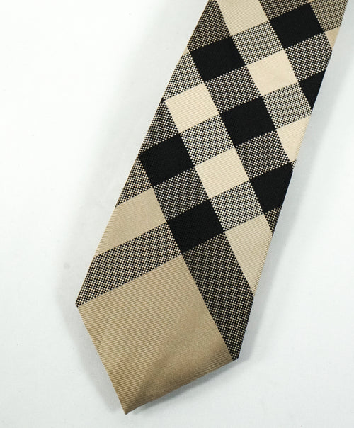 BURBERRY - Made In London, England Premium Line Beige Plaid Tie -