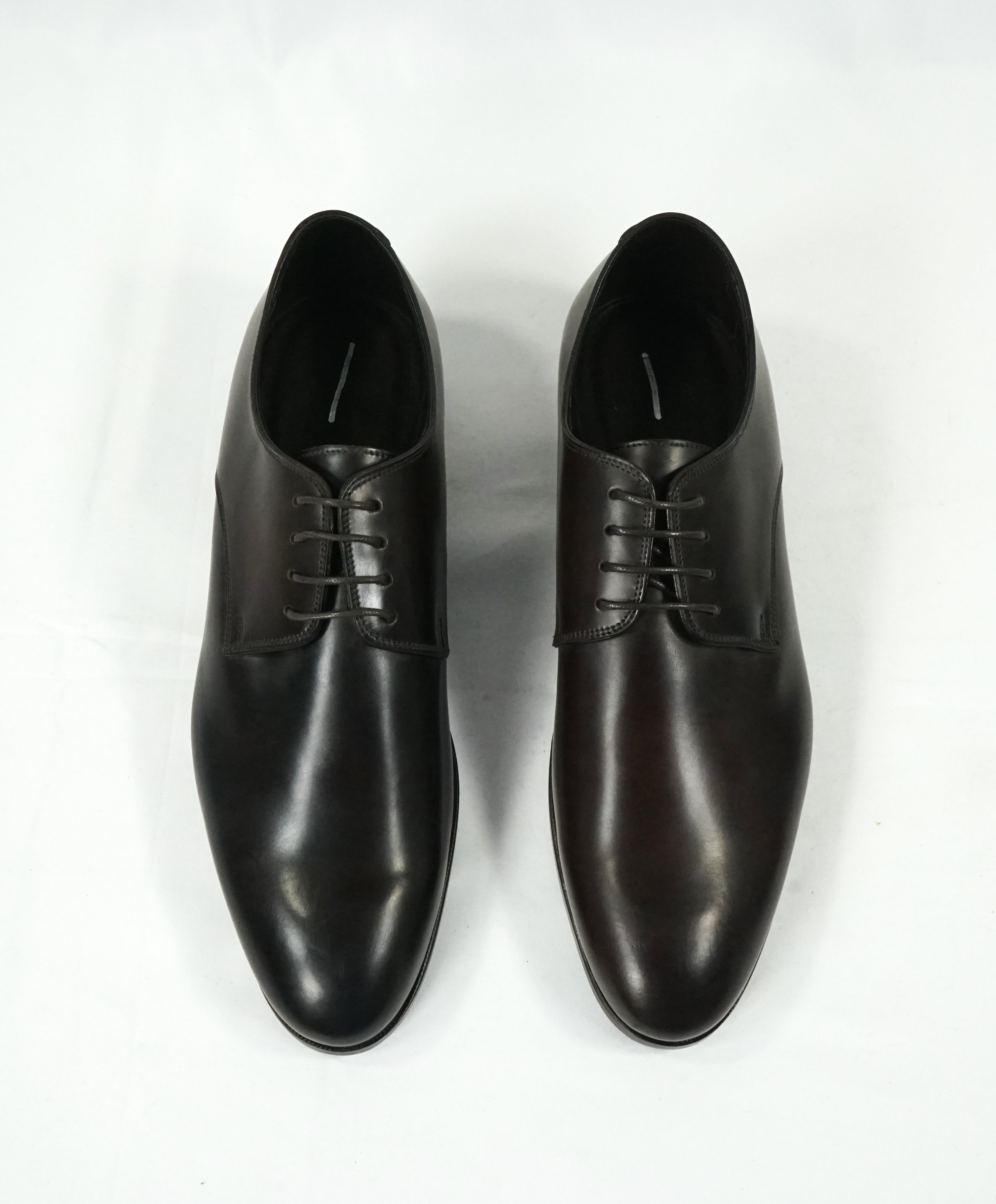 CANALI -  Classic Leather Round Toe Derbys - 8