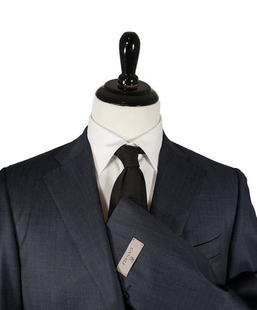 "CANALI - ""Travel/Water Resistant"" Birdseye Blue Suit - 40R"