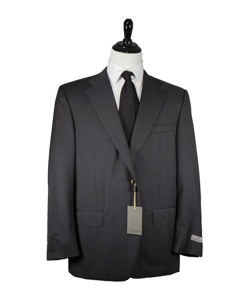 CANALI - Charcoal Virgin Wool Solid Suit - 48R