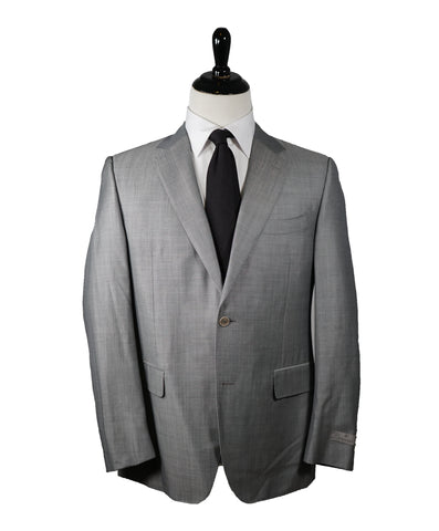 "EMPORIO ARMANI - ""M LINE"" Drop 8 Soft Textured Blue Suit W Pick Stitching - 38R"