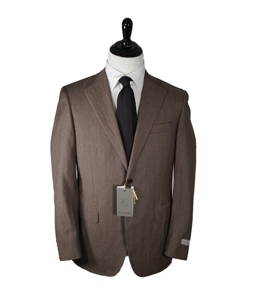 CANALI - Wool/Linen Blend Partially Lined Suit - 38R