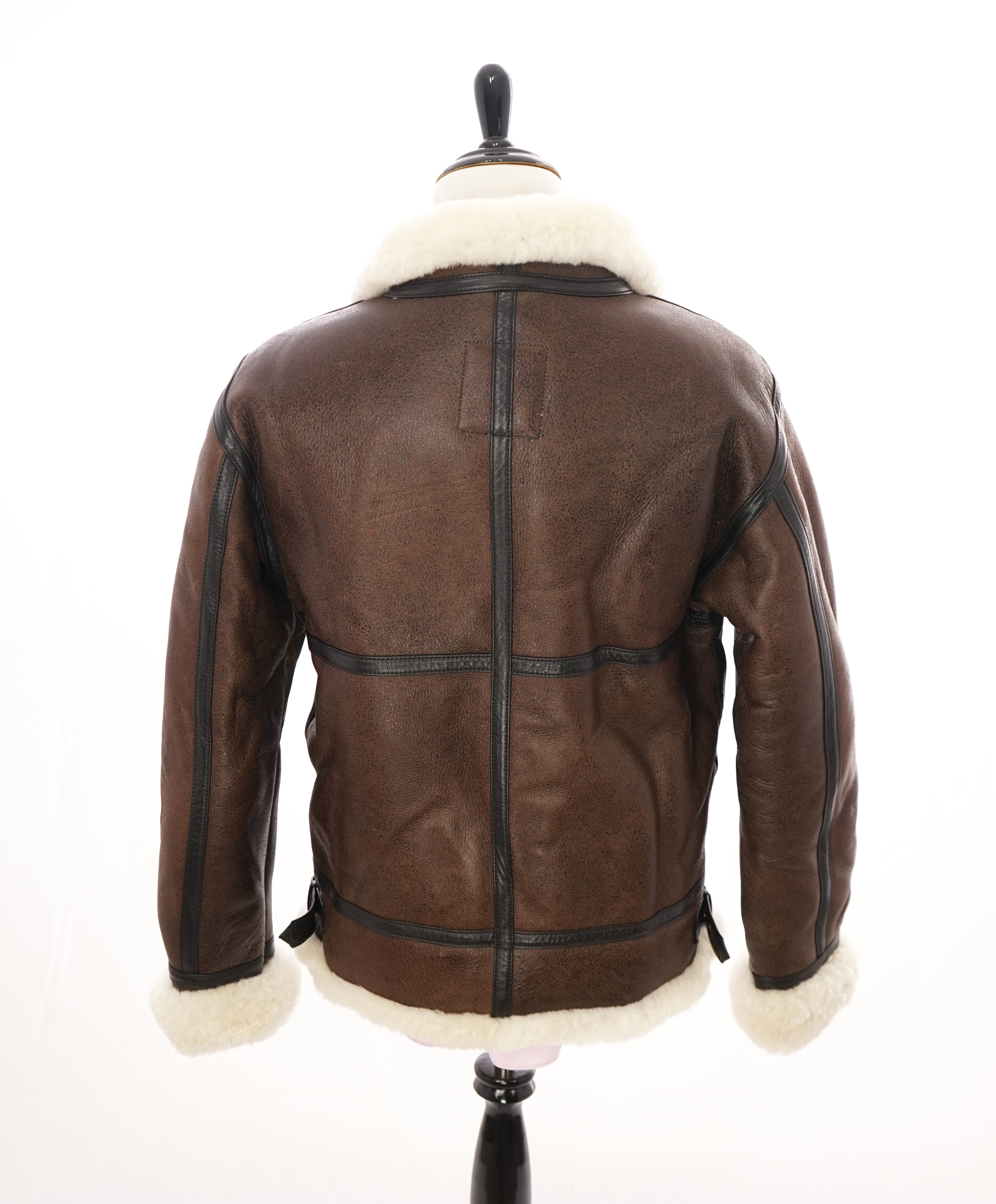 ALPHA INDUSTRIES - Classic Shearling Bomber Jacket Coat B-3 - Small