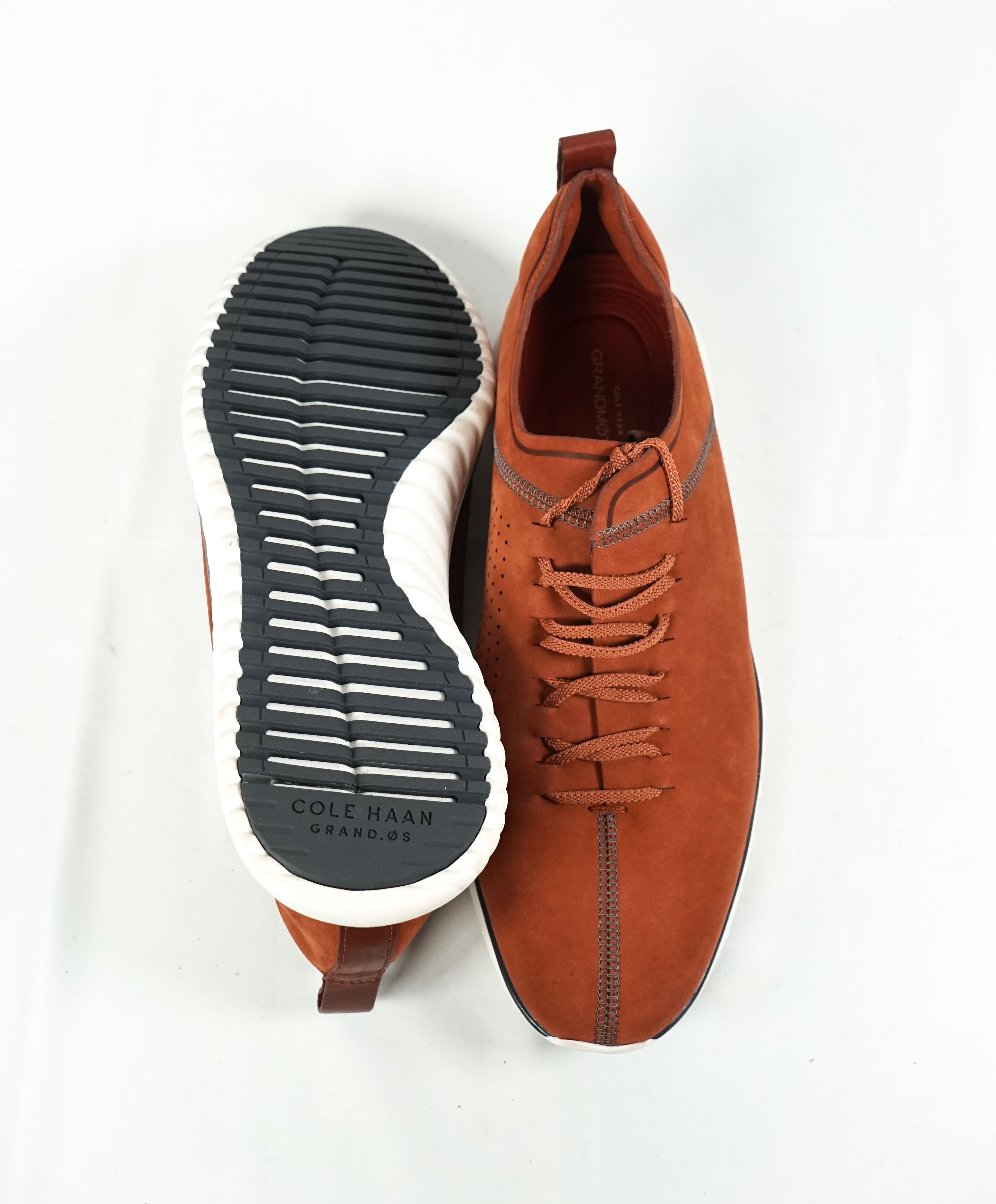 "COLE HAAN - ""Andy"" Rust Suede Oxfords With Comfort Sole ""GrandMotion"" - 10"