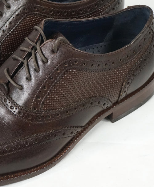 "COLE HAAN - ""Williams"" Leather Wingtip Oxfords Padded Insole - 10.5"