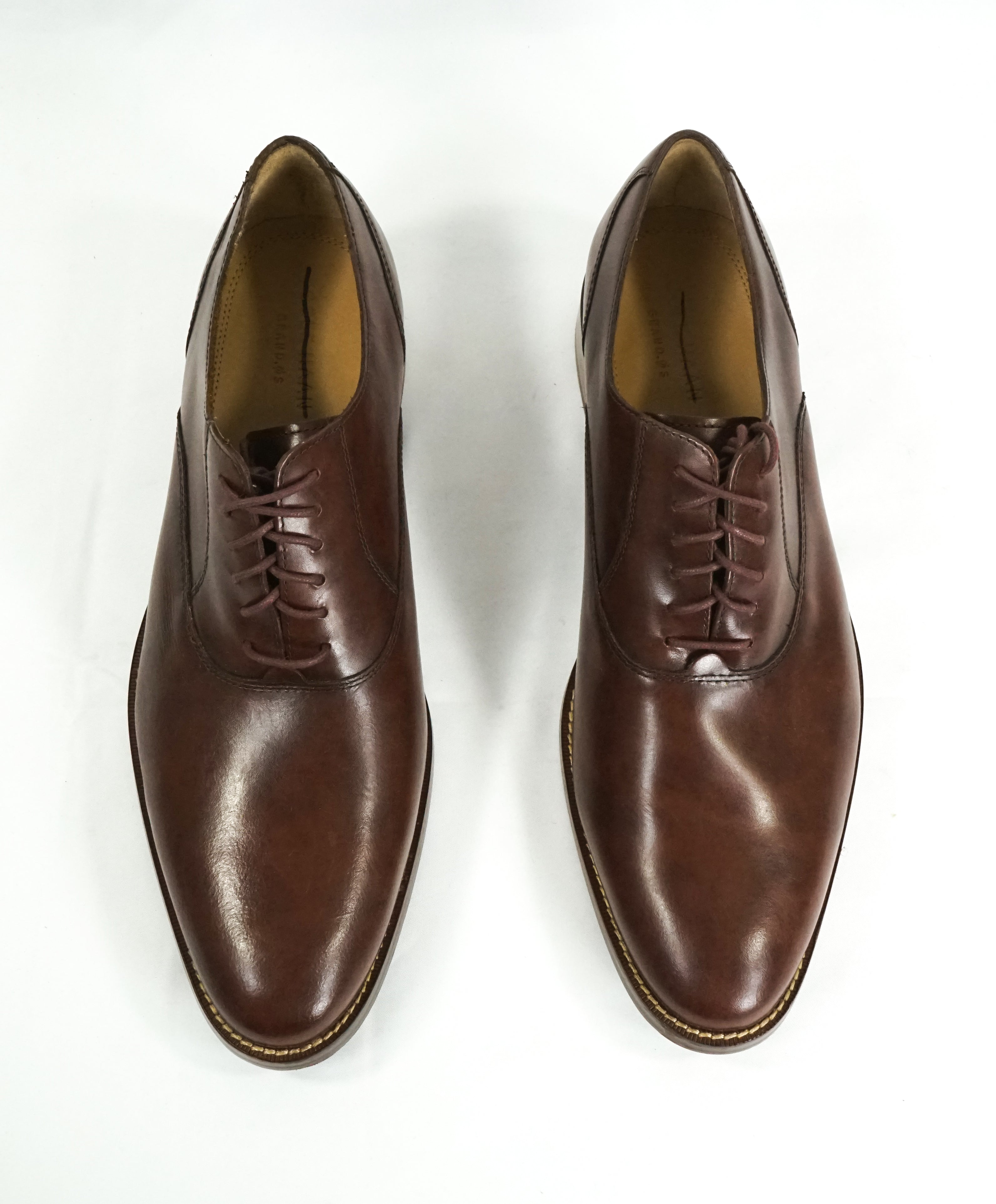COLE HAAN - Grand OS Sleek Silhouette Brown Oxfords Padded Insole - 11.5