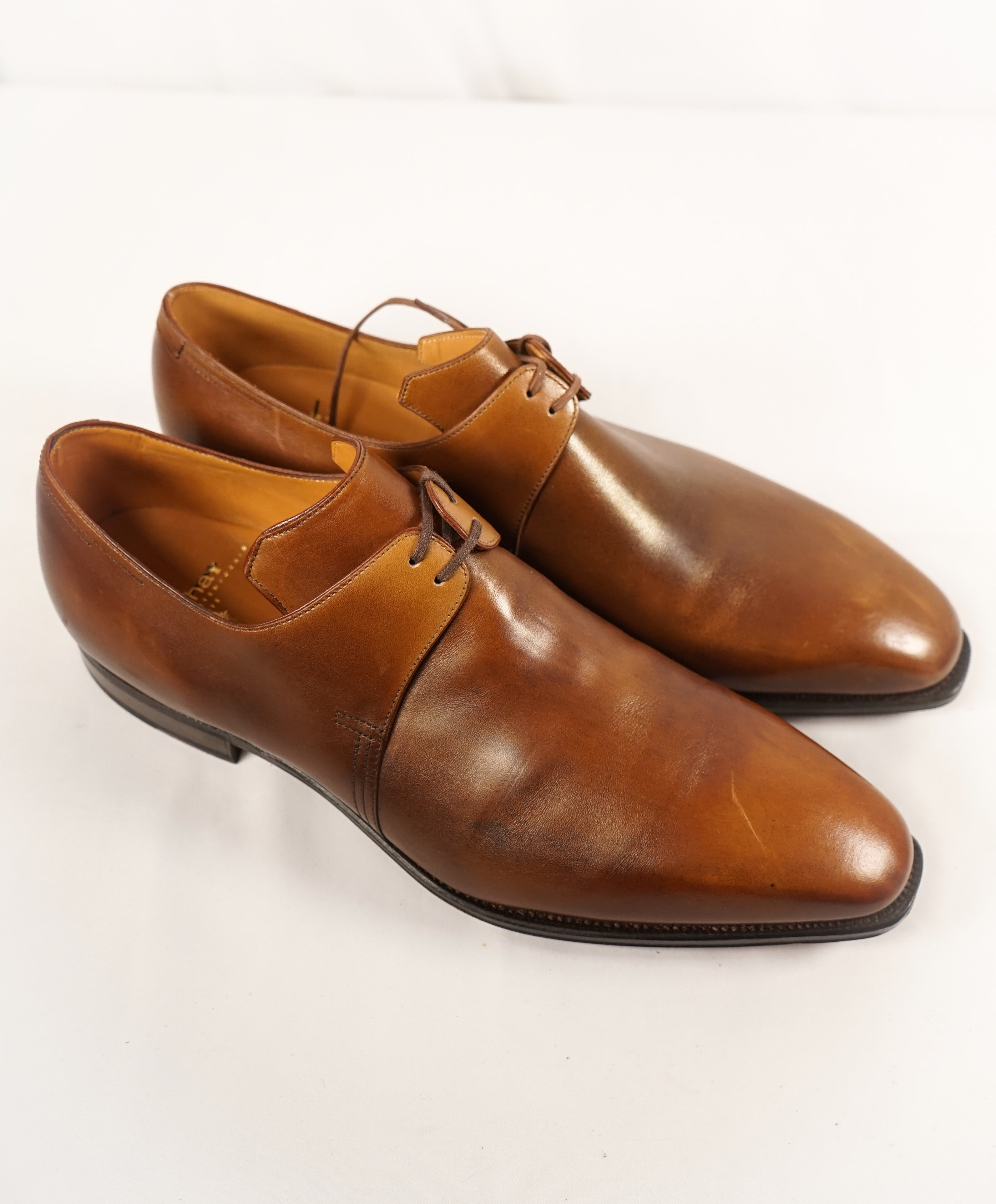 "CORTHAY - ""Arca"" Brown Leather Oxfords 2-Eylet- 8.5-L 9-R"