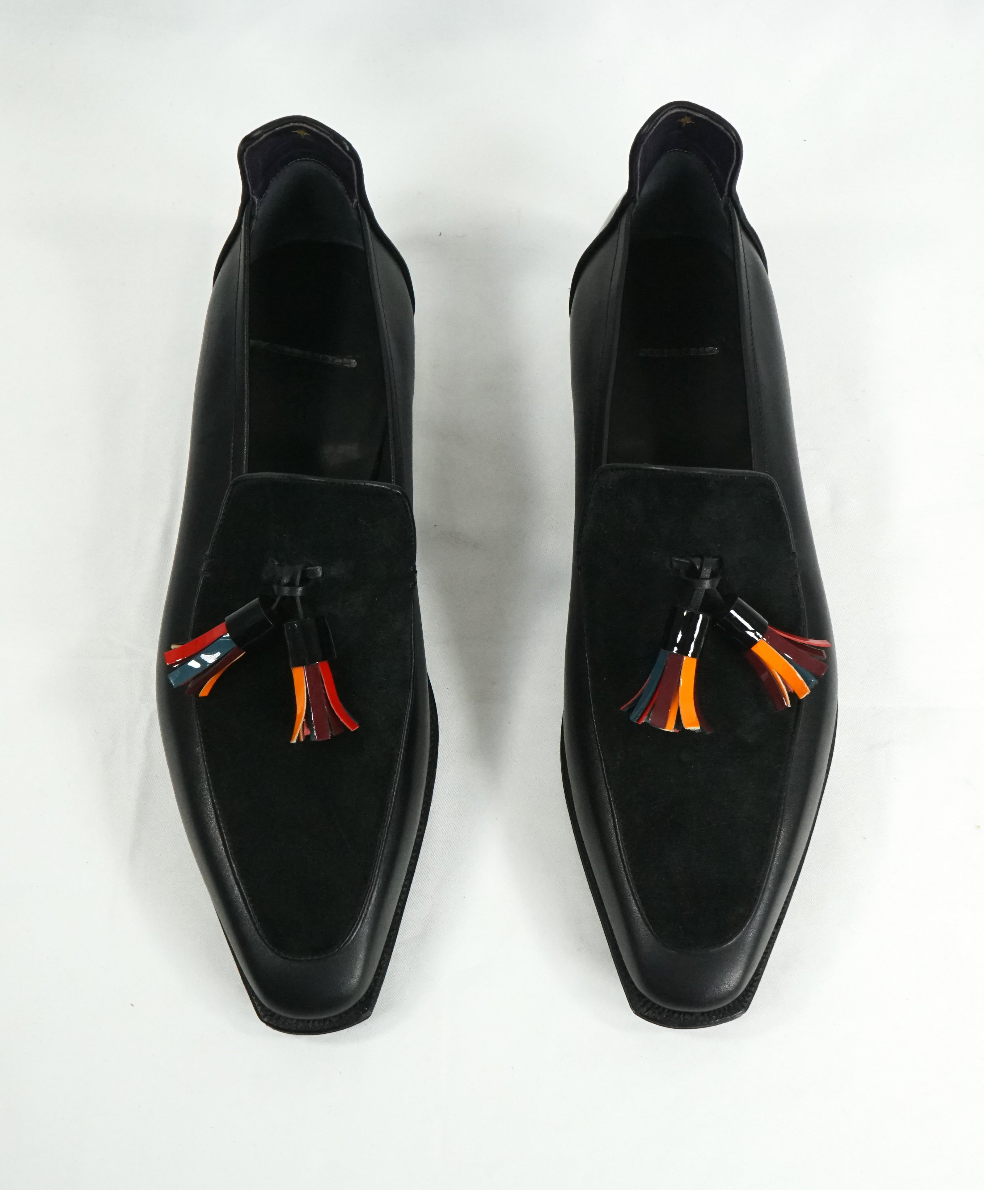 CORTHAY -LIMITED EDITION Brighton Tassel Pullman Loafers Black - 10