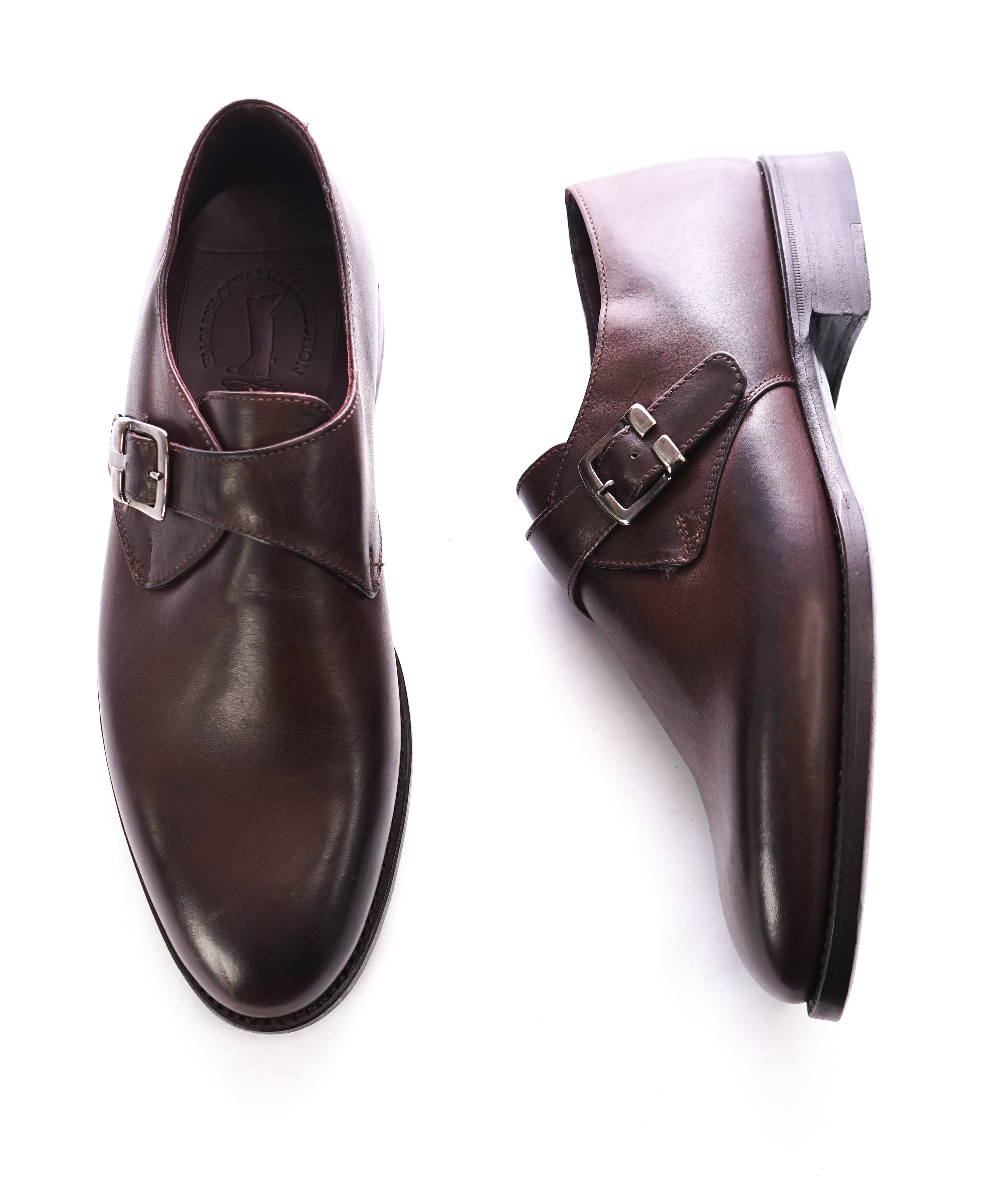 NETTLETON - Brown Hand Made In England Single Monk Loafers - 8