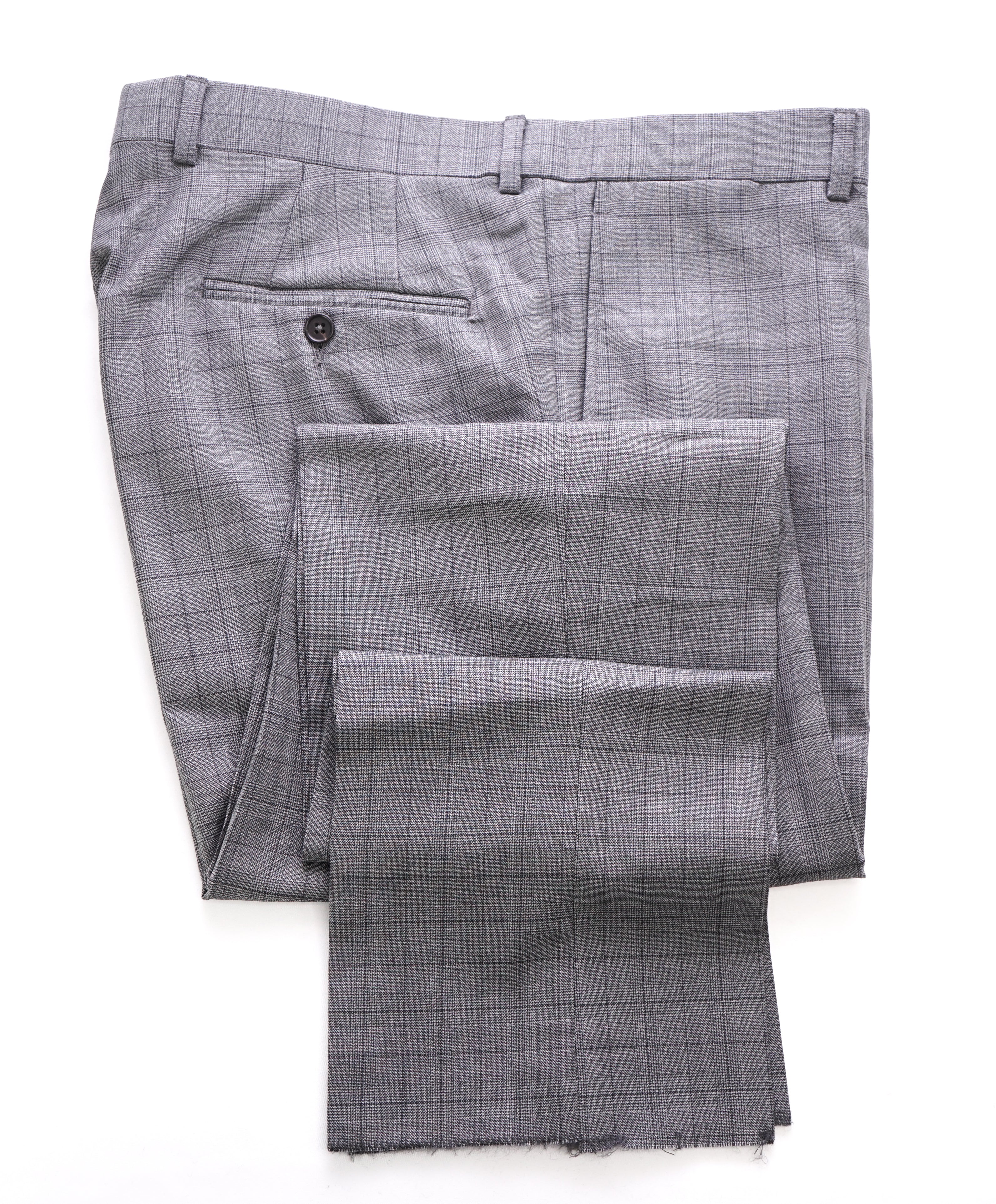 TED BAKER - Gray Prince of Wales Check Wool Flat Front Dress Pants- 35W