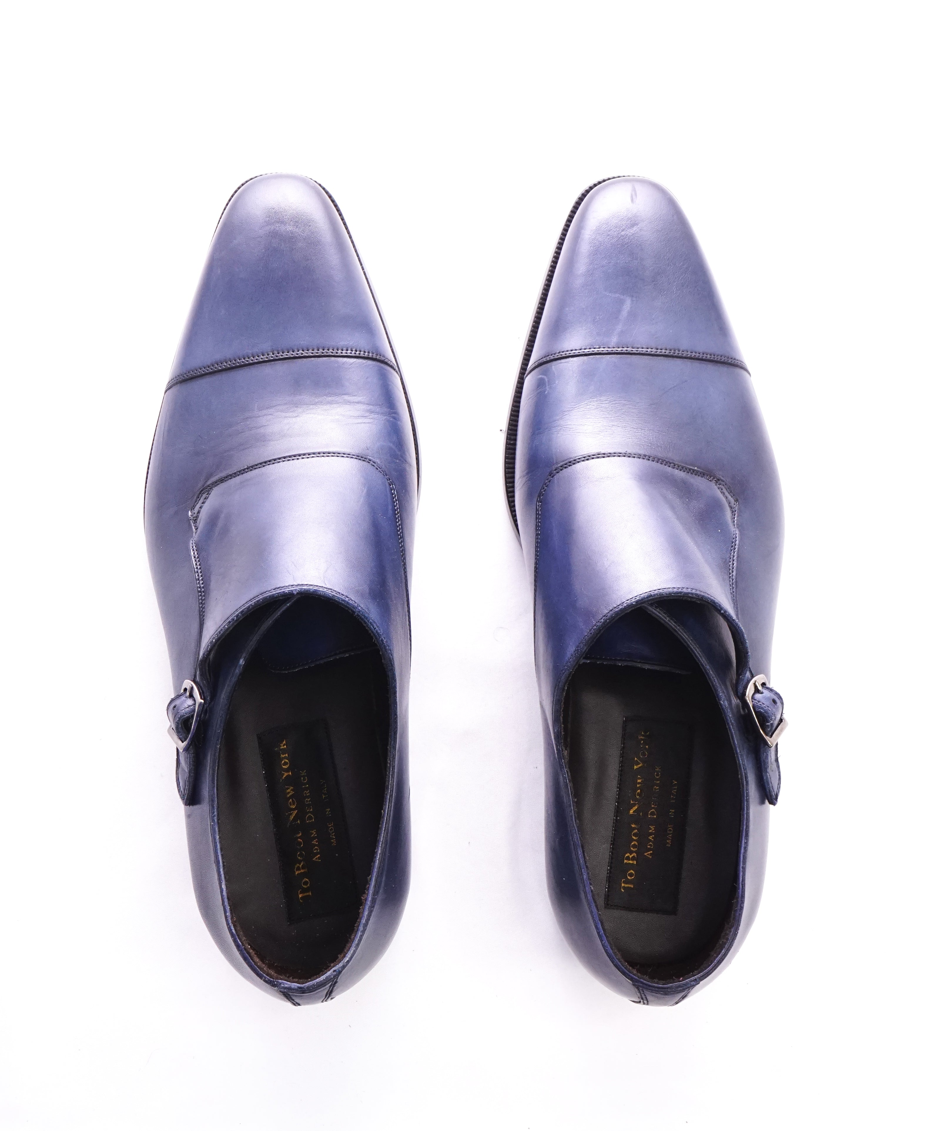 TO BOOT NEW YORK - Fly Away Single Monk Strap Blue Loafers - 11.5