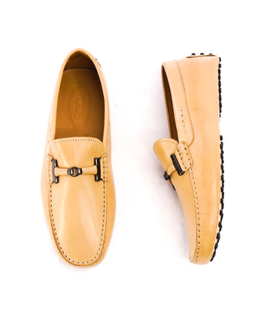 2206a4b9ad4d5 TOD'S - Beige T Tods Logo Driving Loafers- 7US. $229.00. $575.00. DEL TORO  - Black Red Stripe