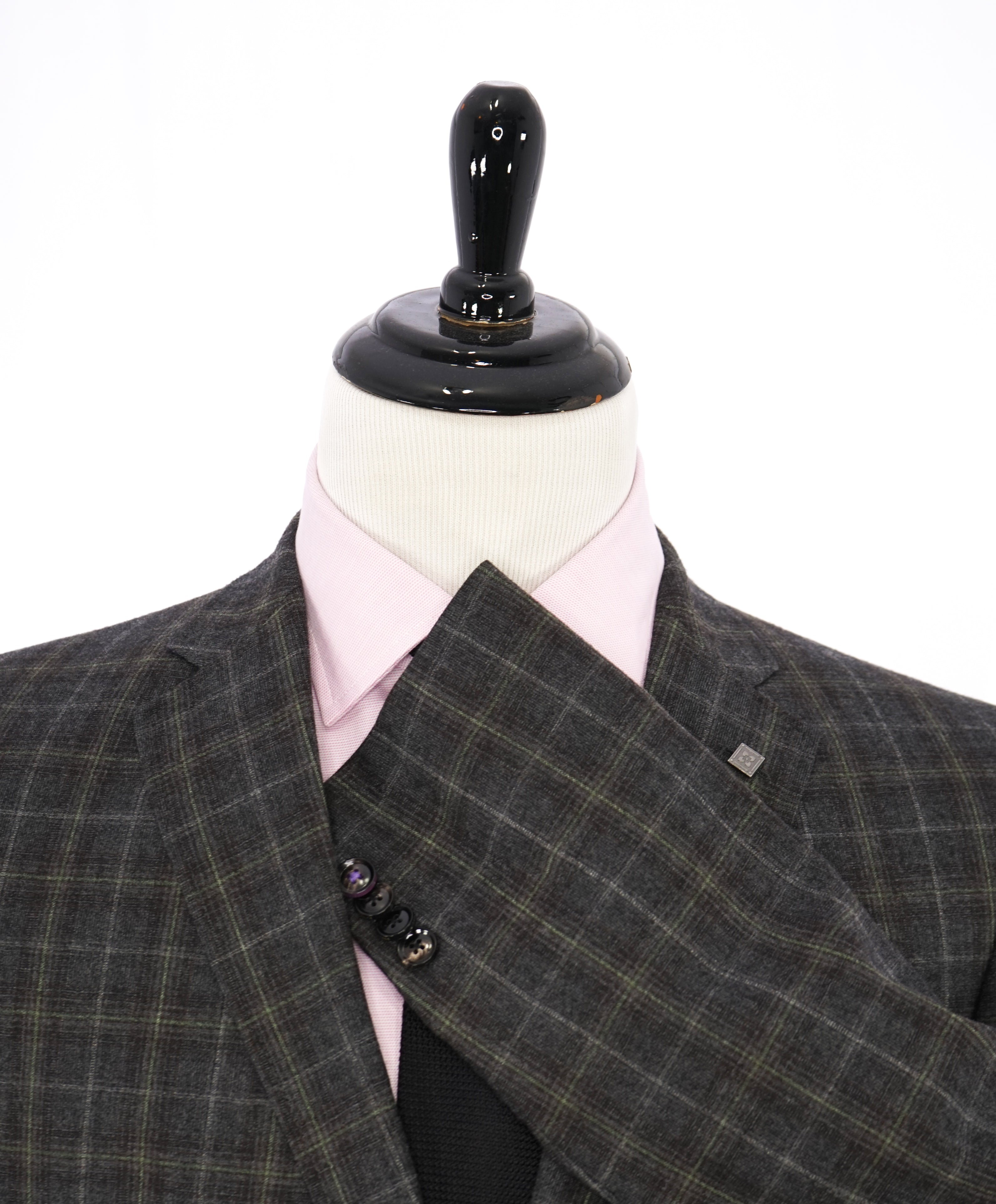 "TED BAKER - ""Endurance"" Bold Mint & Lilac Plaid Check Blazer W Detail - 42L"