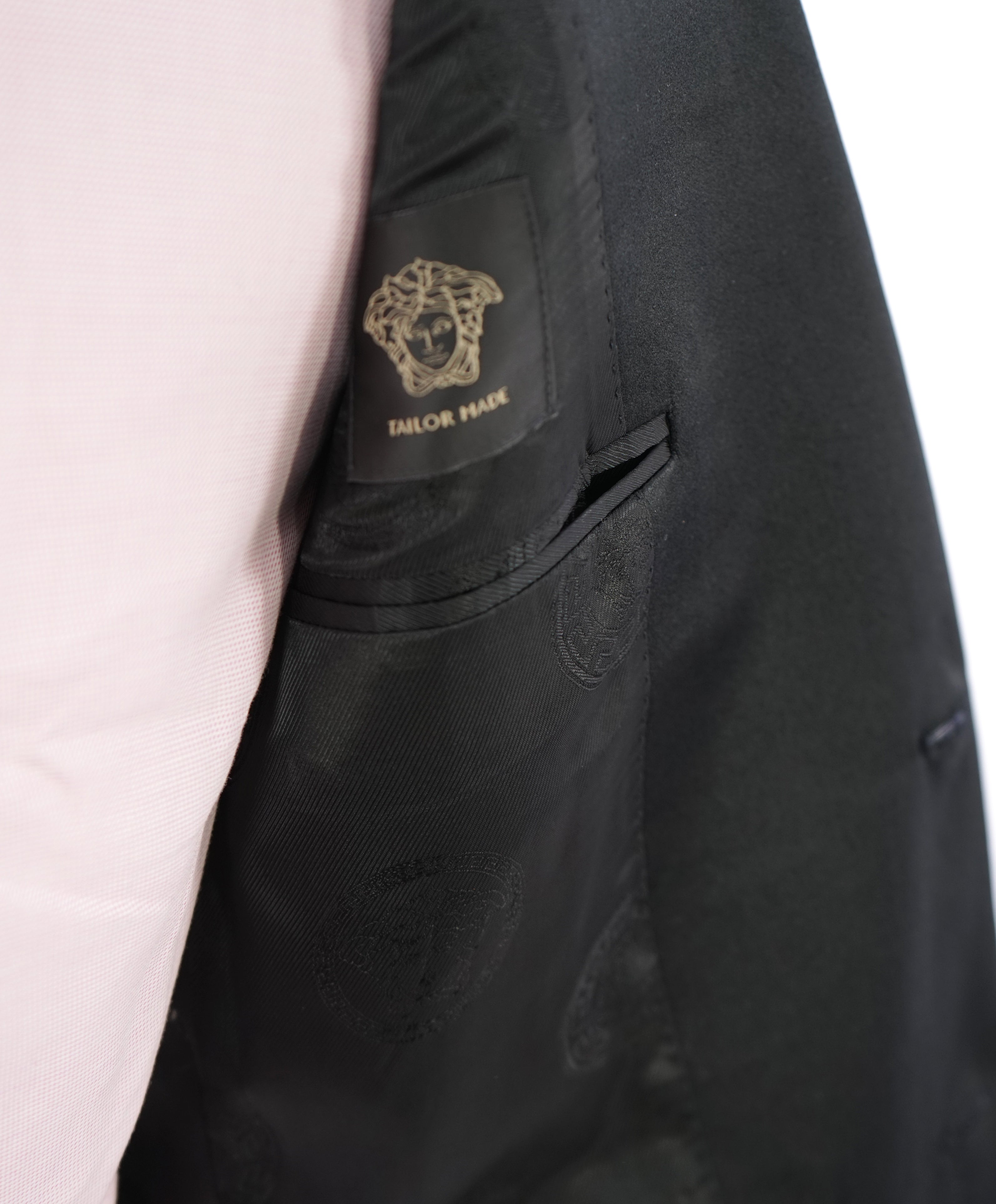 "GIANNI VERSACE COUTURE - ""Tailor Made"" Medusa Lined Dinner Jacket Blazer- 38L"