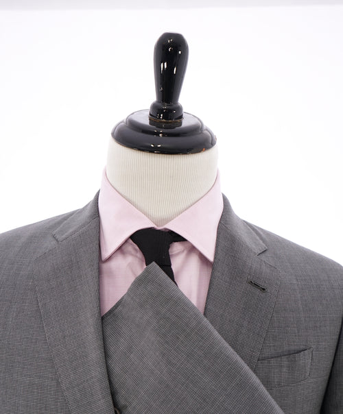 "ARMANI COLLEZIONI - ""G Line"" Gray Micro Check Plaid Notch Lapel Blazer - 46R"