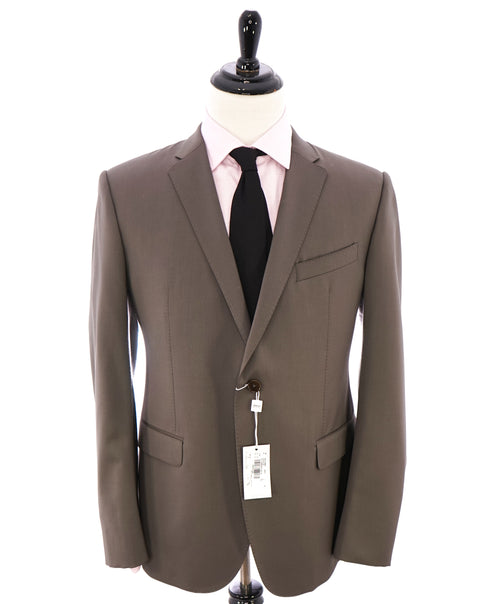 ARMANI COLLEZIONI - Slim 2-Button Notch Lapel Taupe Suit- 44R