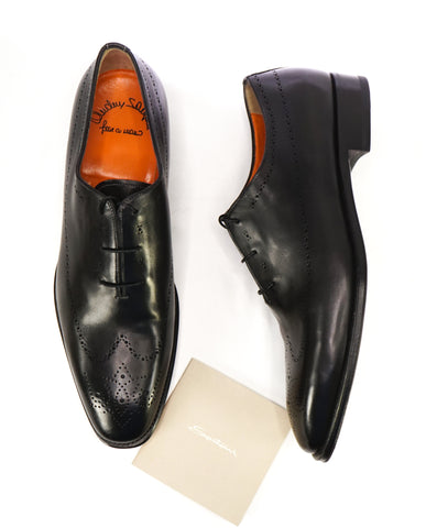 "AQUATALIA - ""Decker"" Brown Leather Derby Oxfords - 8.5"