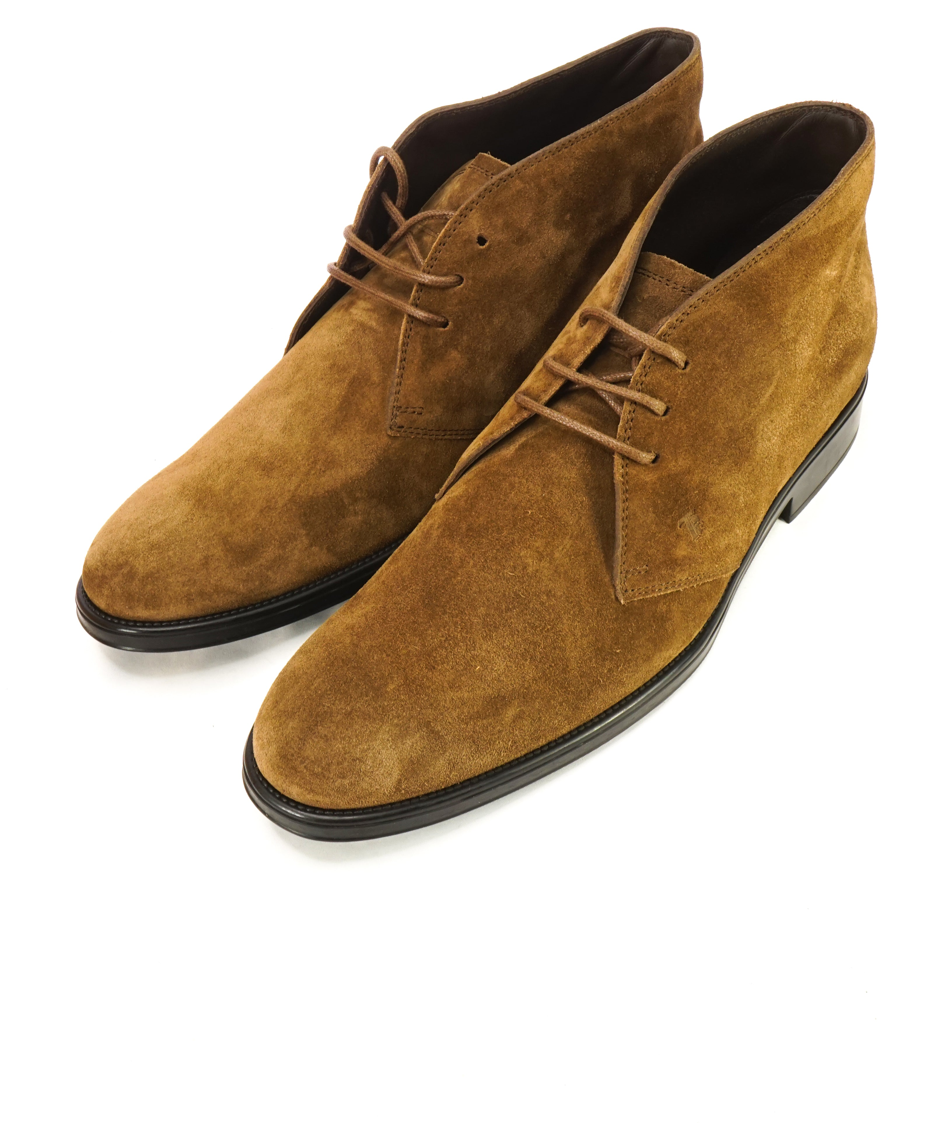 TOD'S - Brown Snuff Suede Logo Chukka Boot With Logo - 12