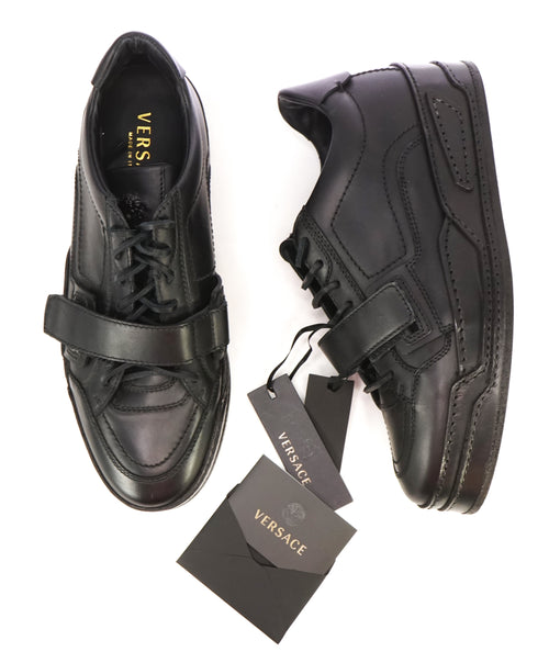 VERSACE COUTURE - Medusa Black on Black Sneaker W Leather Laces - 10US