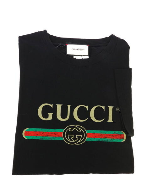 GUCCI - 1980 Vintage Style Oversize T-shirt with Gucci logo - M (Oversized)