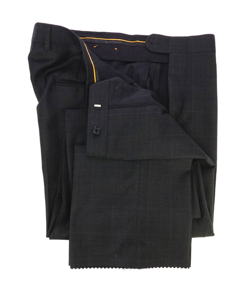 "HICKEY FREEMAN - ""ERMENEGILDO ZEGNA SILK Blend"" Gray Plaid Check Pants - 34W"