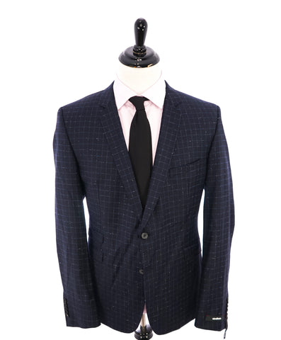 CANALI - Light Blue Wool/Silk/Linen Basket Weave Summer Blazer -  46R