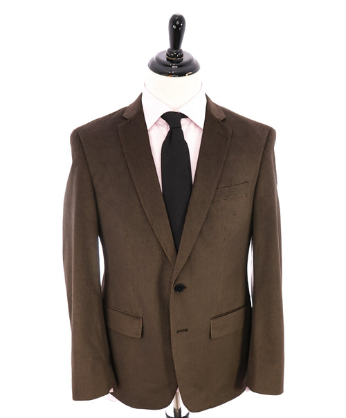 JOHN VARVATOS - Velvet Houndstooth Brown Dinner Jacket / Blazer - 40R