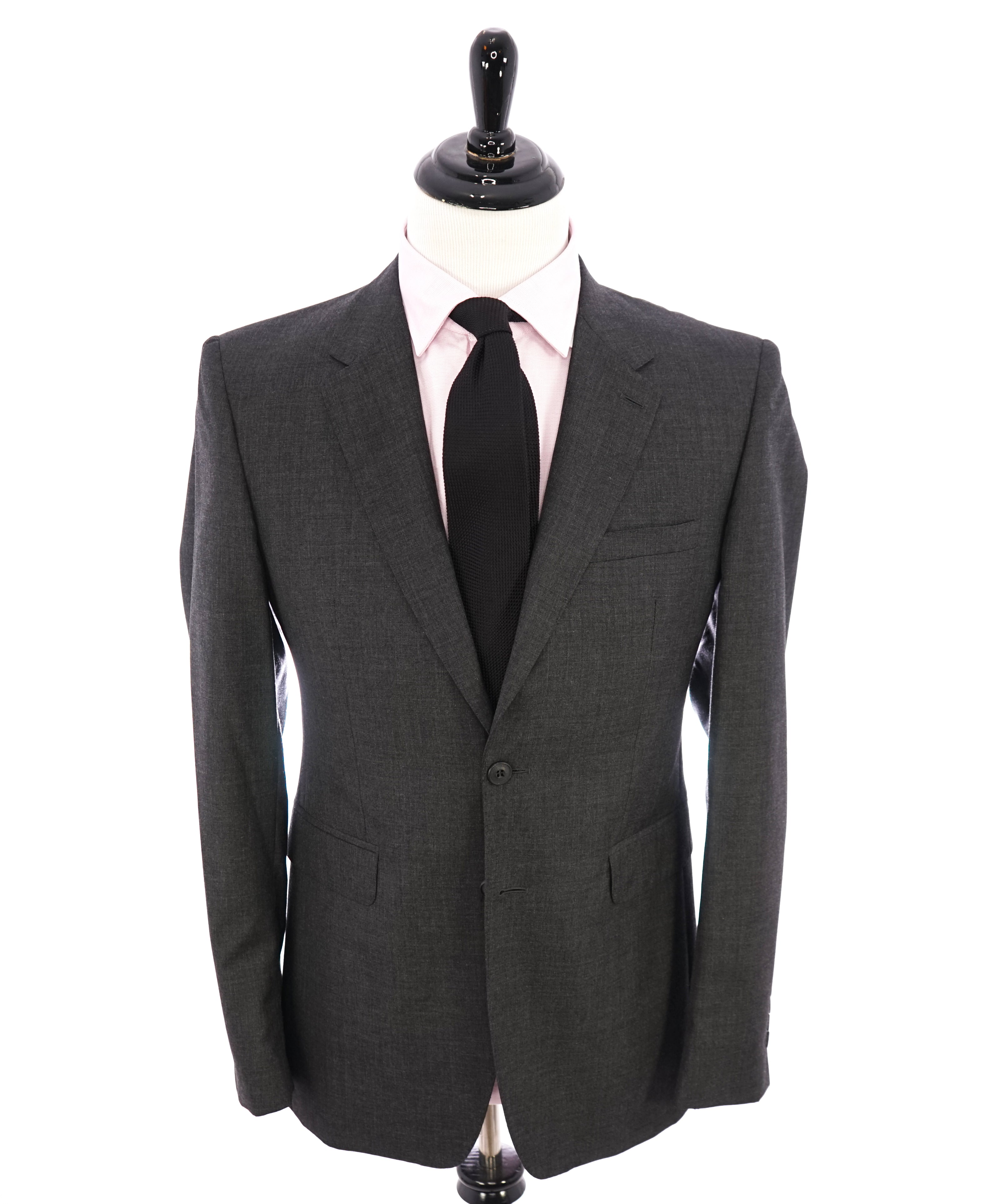 "BURBERRY LONDON - Made In Italy Wool Gray ""MILLBANK"" LOGO Suit - 40R"