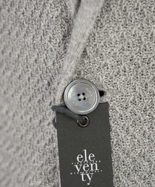 ELEVENTY - Cotton/Linen Textured Knit Sweater Style Blazer MOP Buttons -M (38US)