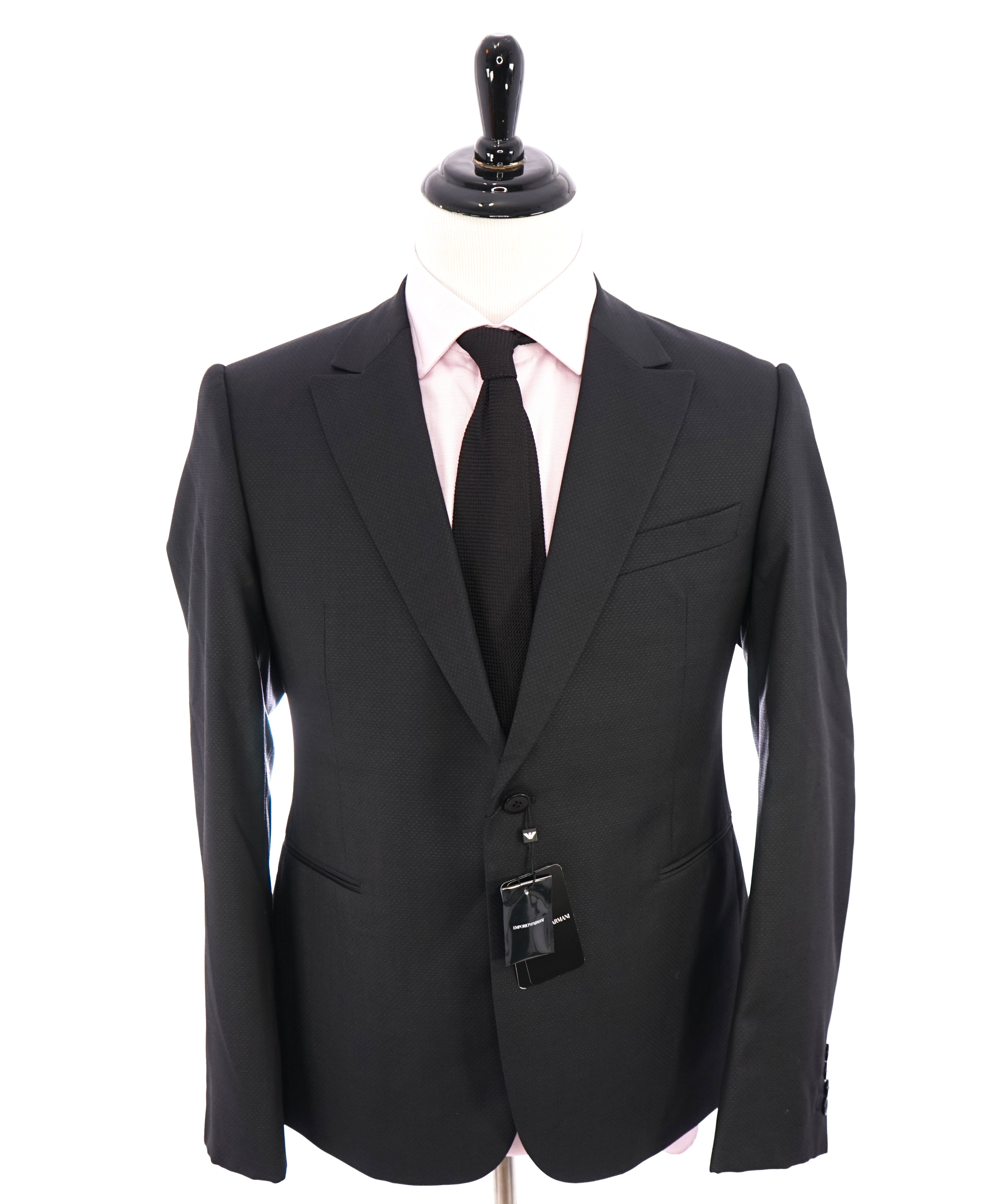 "EMPORIO ARMANI -  ""M LINE"" Drop 8 Made In Italy Geometric 1-Button Suit - 42S"