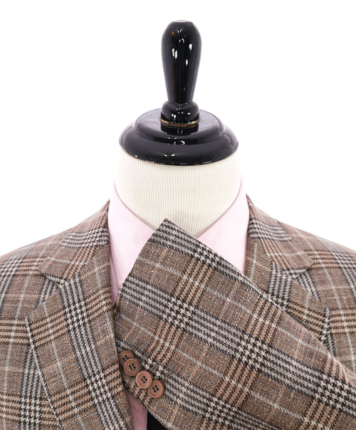 "GIORGIO ARMANI - ""George"" Wool/Silk/Linen Bold Plaid Check Unlined Blazer - 46R"