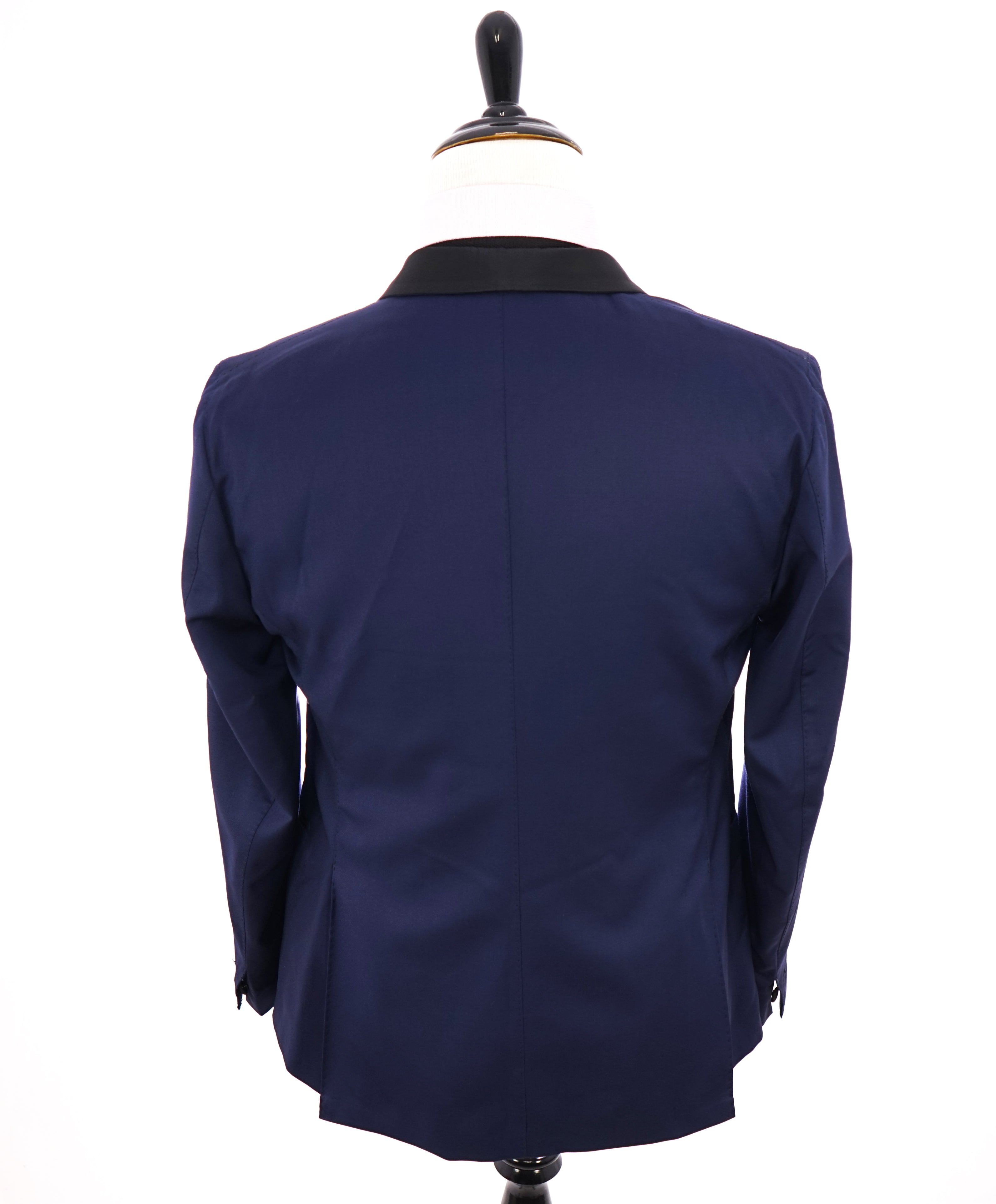 "ELEVENTY - ""PLATINUM"" Hand Made Blue SHAWL COLLAR Tuxedo Unconstructed - 40R"