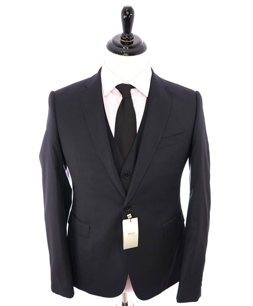 "ARMANI COLLEZIONI - ""M Line"" 3-Piece Navy Solid Suit With Pick Stitching -  40R"