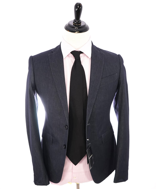 "EMPORIO ARMANI - ""M LINE"" Drop 8 Soft Denim Blue Suit W Pick Stitching - 34R"