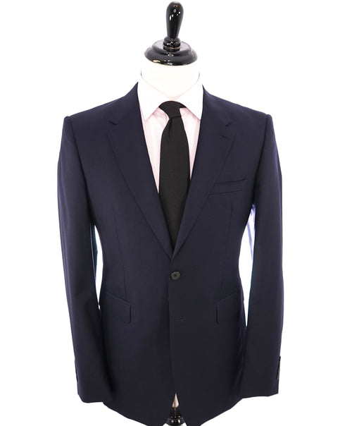 "BURBERRY LONDON - Made In Italy Wool Solid Navy ""MILBURY"" LOGO Suit - 42L"