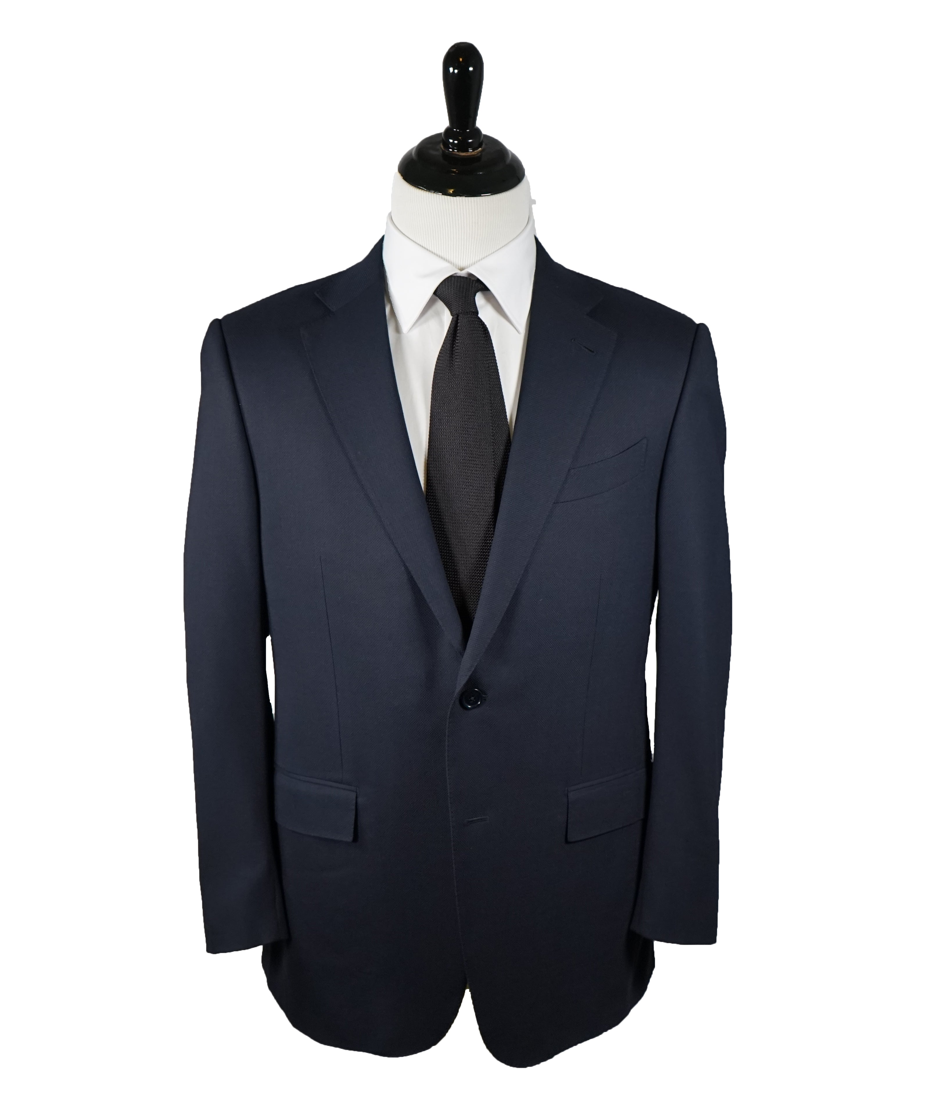 "ERMENEGILDO ZEGNA - Navy Royal Weave ""Cool Effect"" Blazer - 42R"